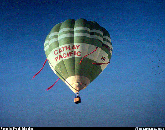 Cameron Balloons O-84,Cathay Pacific Airways