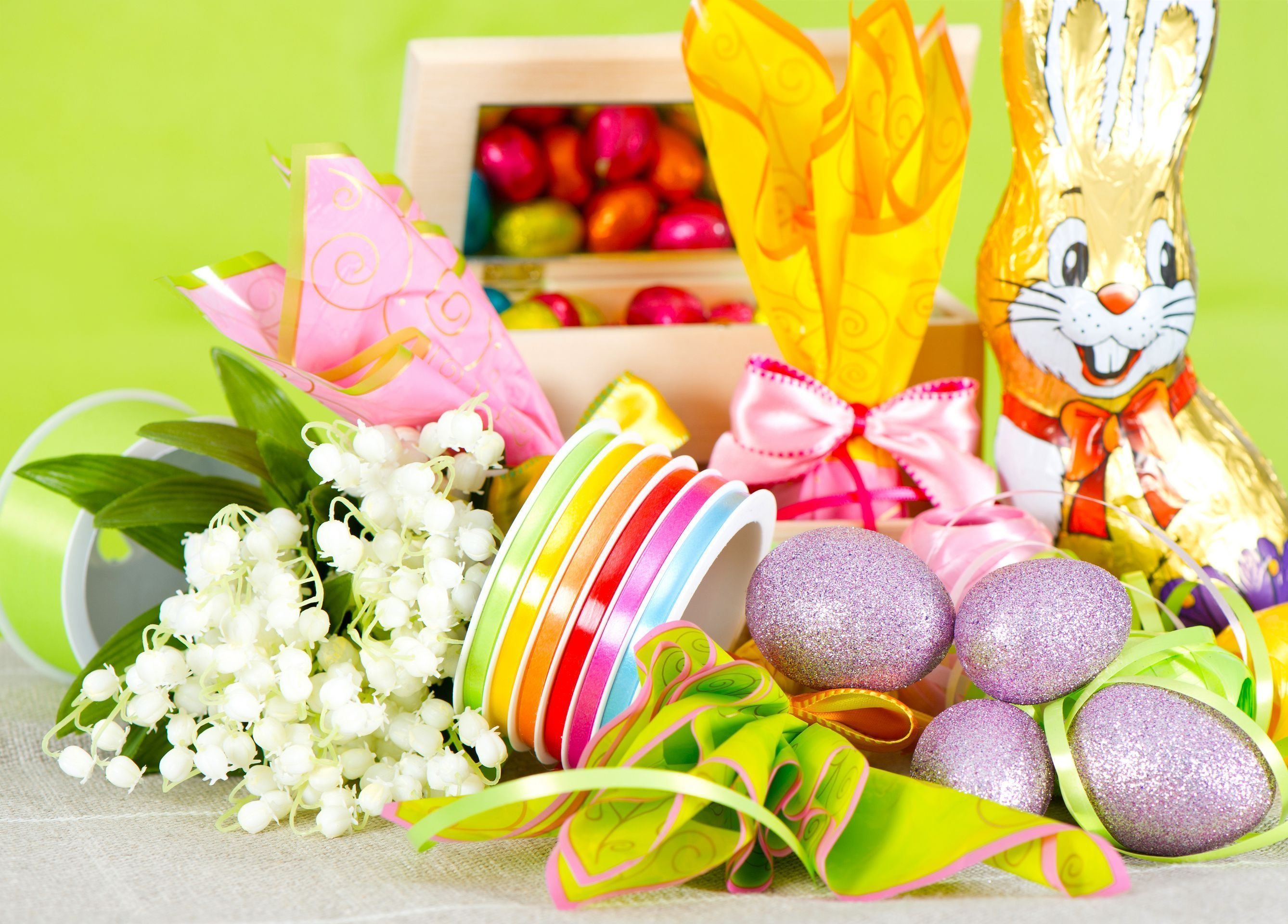 Easter, eggs, chocolate, Chocolate Bunny - HD wallpaper desktop backgrounds