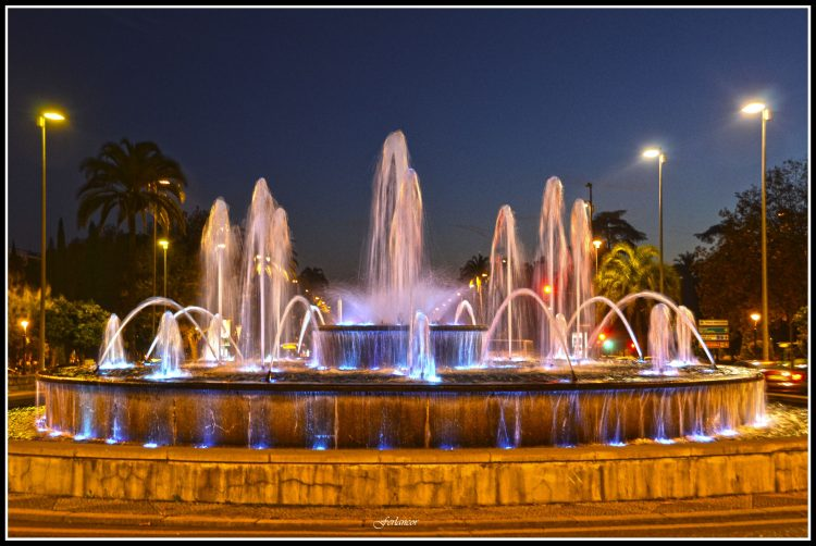 Light fountain, Cordoba, Palacio Hotel – Cordova, Andalusia, Spain