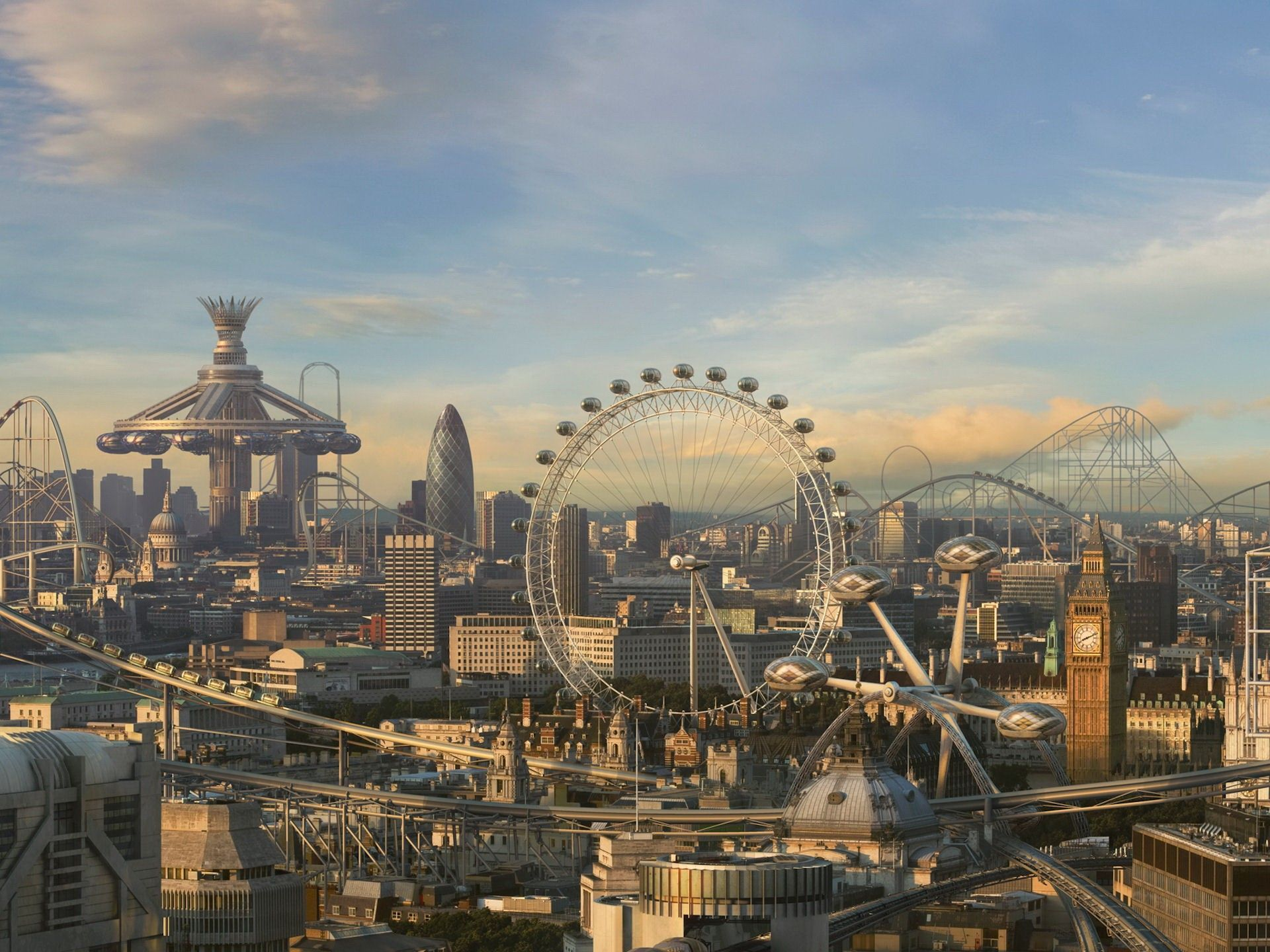 London, Future, Park, Entertainment, Attractions - HD wallpaper desktop backgrounds