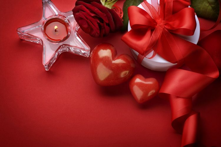 Valentine's Day, Valentine's Day, Heart, Hearts, rose, candle, gift