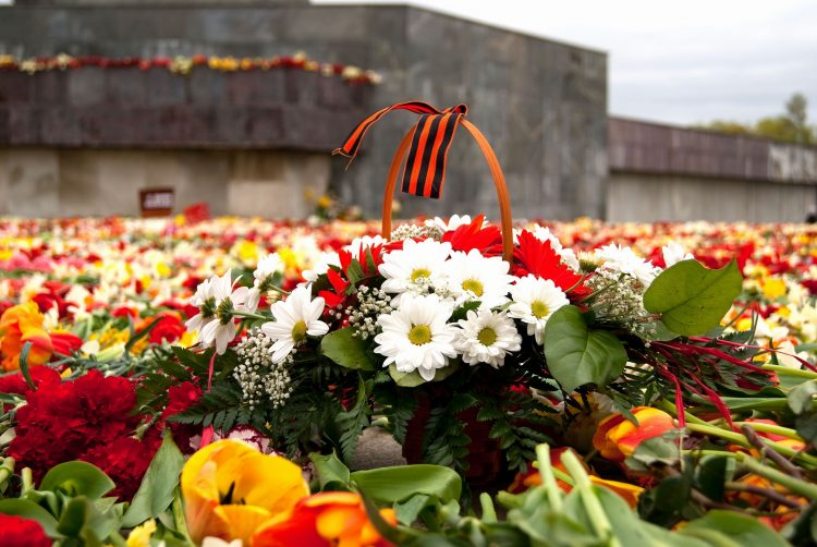 Victory Day, St. George Ribbon, Flowers, memory