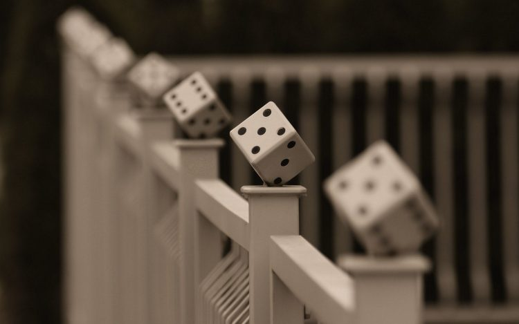 macro, railing, the crossbar, dice
