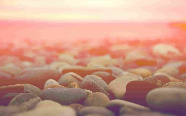 macro, stones, horizon, a light background