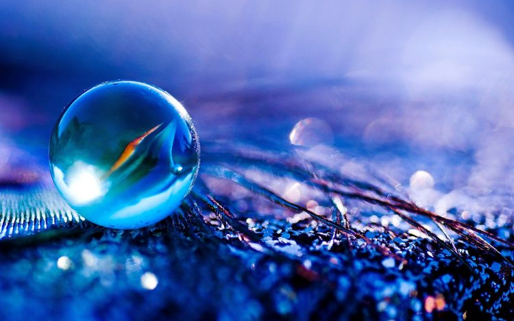 photo, macro, glass, ball, bright, paints, purple, color, wallpaper