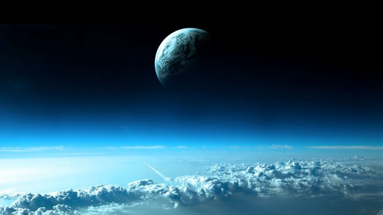 sky, clouds, planet, space