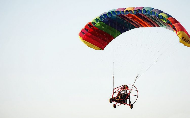 sky, parachute, Hang-glider, wing, engine