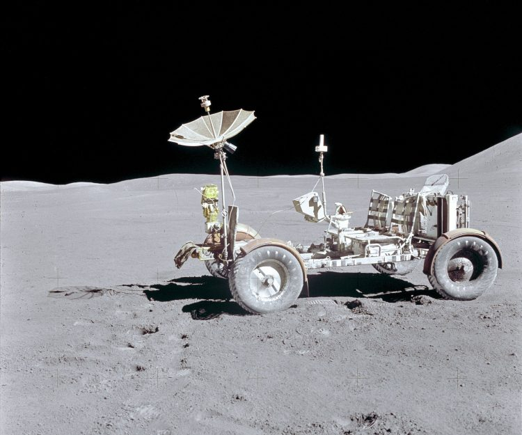space, moon, lunar vehicle, wallpaper