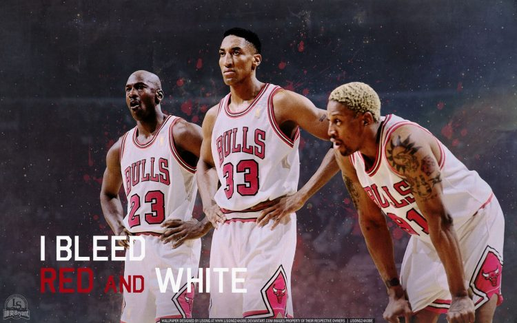 Michael Jordan, Scottie Pippen, Dennis Rodman, NBA, basketball