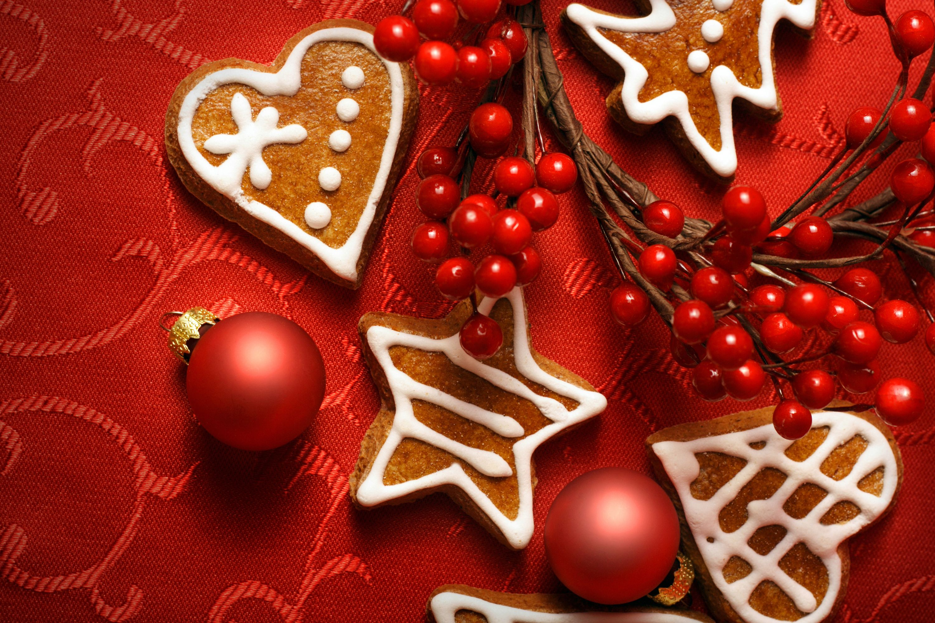 New Year, Christmas, Toys, cookies - HD wallpaper desktop backgrounds