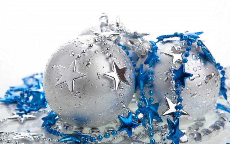 New Year, Christmas decorations, Balls, Star
