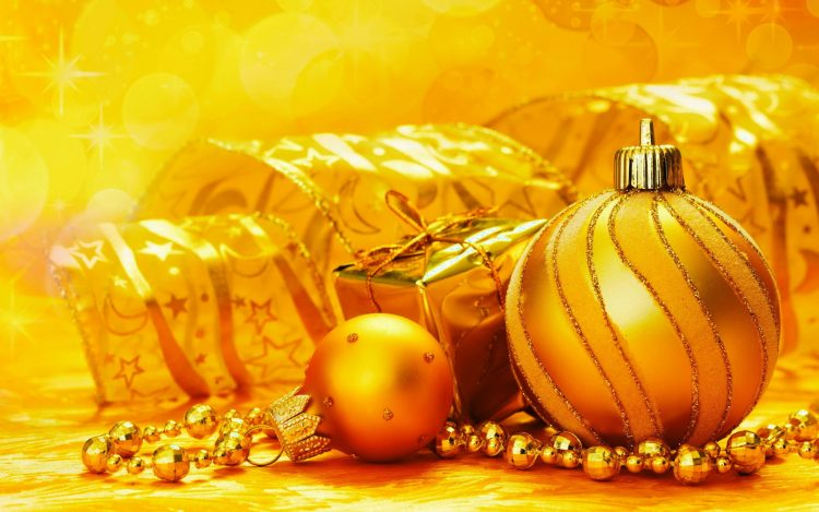 New Year, background, gold, style