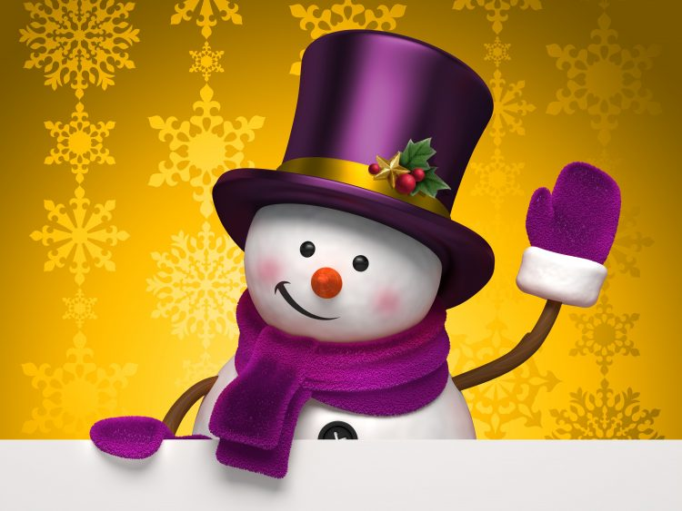 holiday, Winter, snowman, graphics, Snowflakes