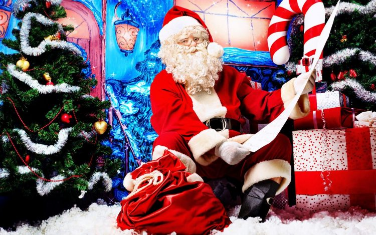 list, Christmas decorations, New Year