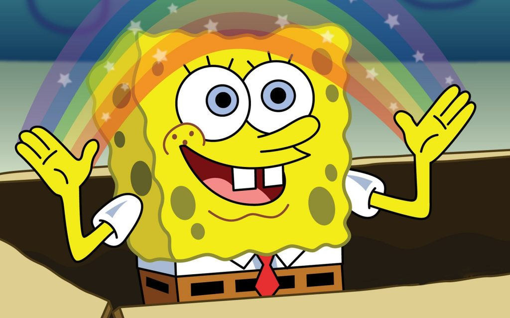 SpongeBob sponge rainbow animated series