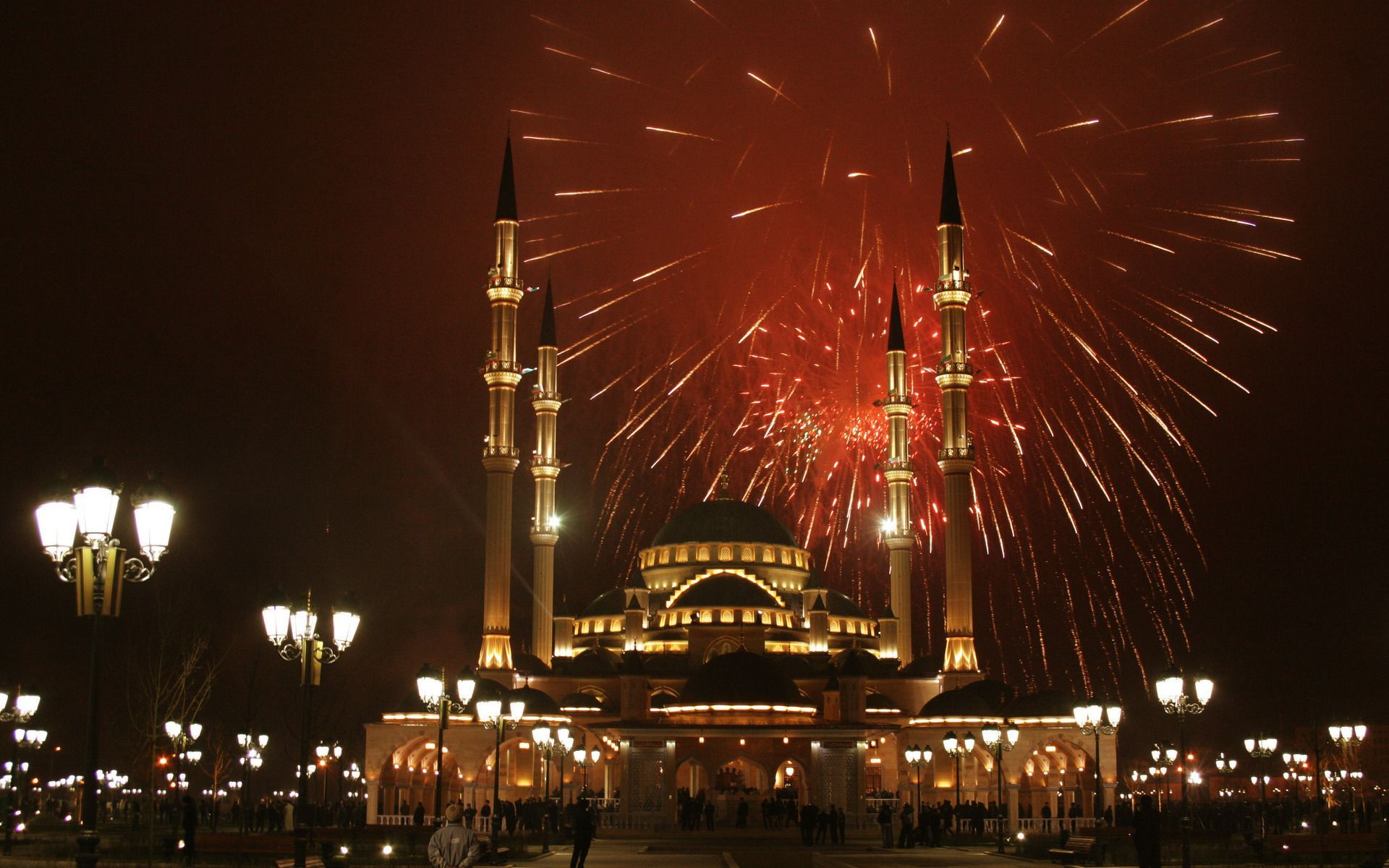 formidable chechnya salute holiday mosque