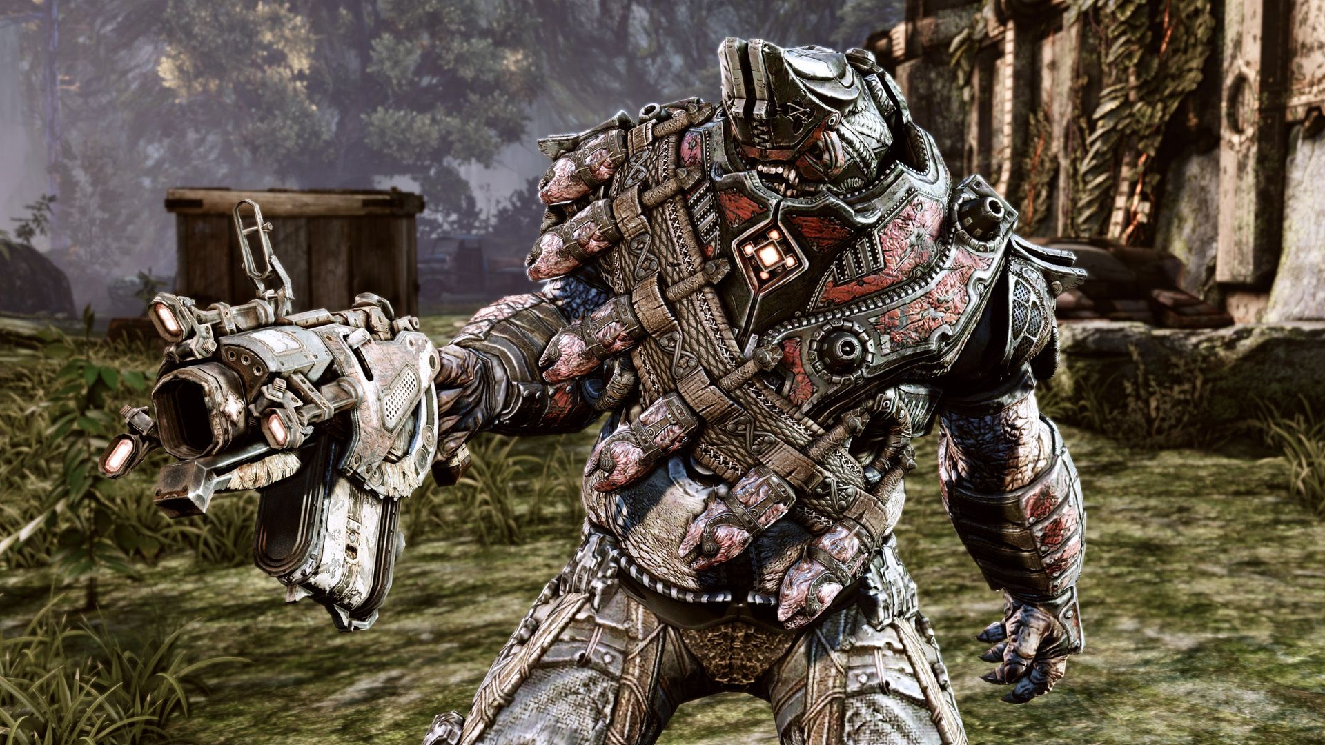 gears of war 3 monster weapon - HD wallpaper desktop backgrounds