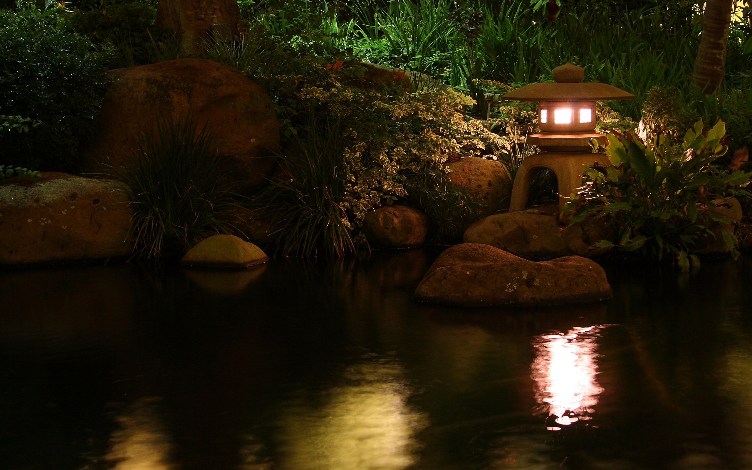 nature pond lamp lamp water - HD wallpaper desktop backgrounds