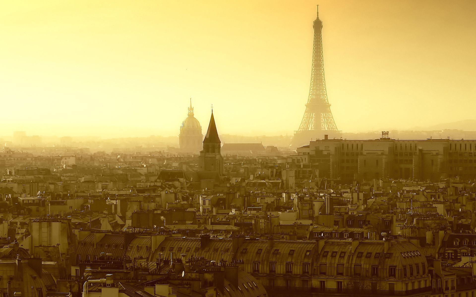 France Paris home Street Street Eiffel Tower sky Morning roof Roof
