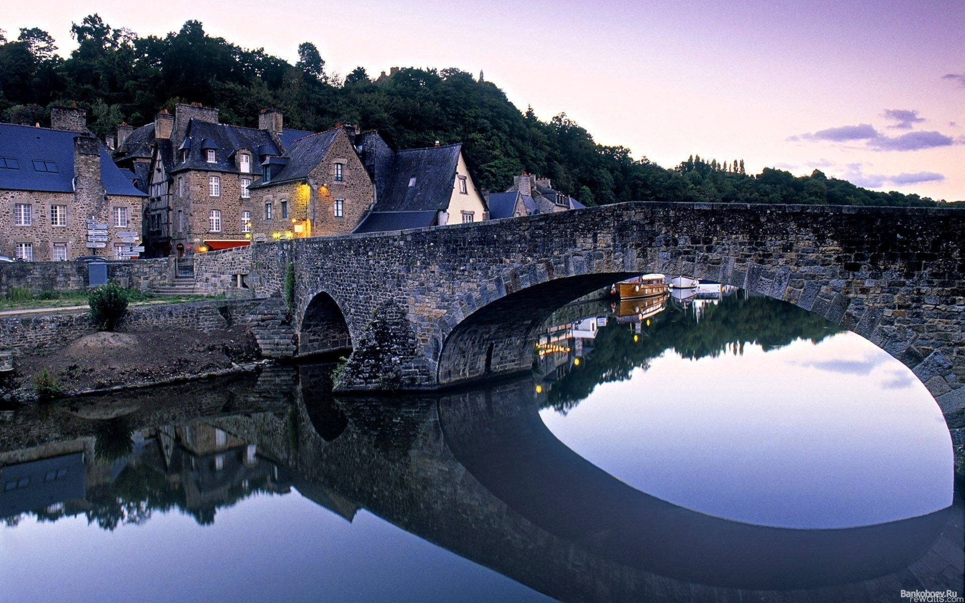 France houses bridge river - HD wallpaper desktop backgrounds