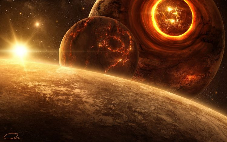 Art, Planet, star, destruction, scope, crack, lava, disaster, hd  desktop wallpapers , Pc backgrounds, free pictures