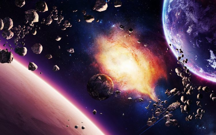 Asteroids, nebula, Planet, Ships, Star, hd  desktop wallpapers , Pc backgrounds, free pictures