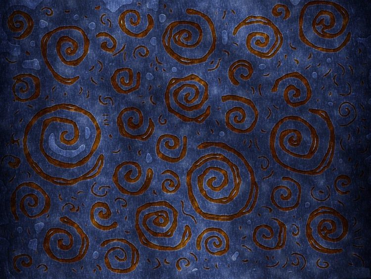 Spirals abstraction blue brown