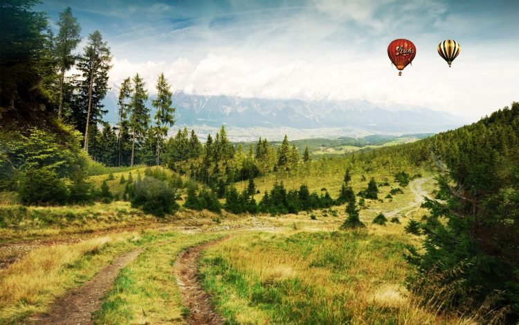 forest Mountains Balloons