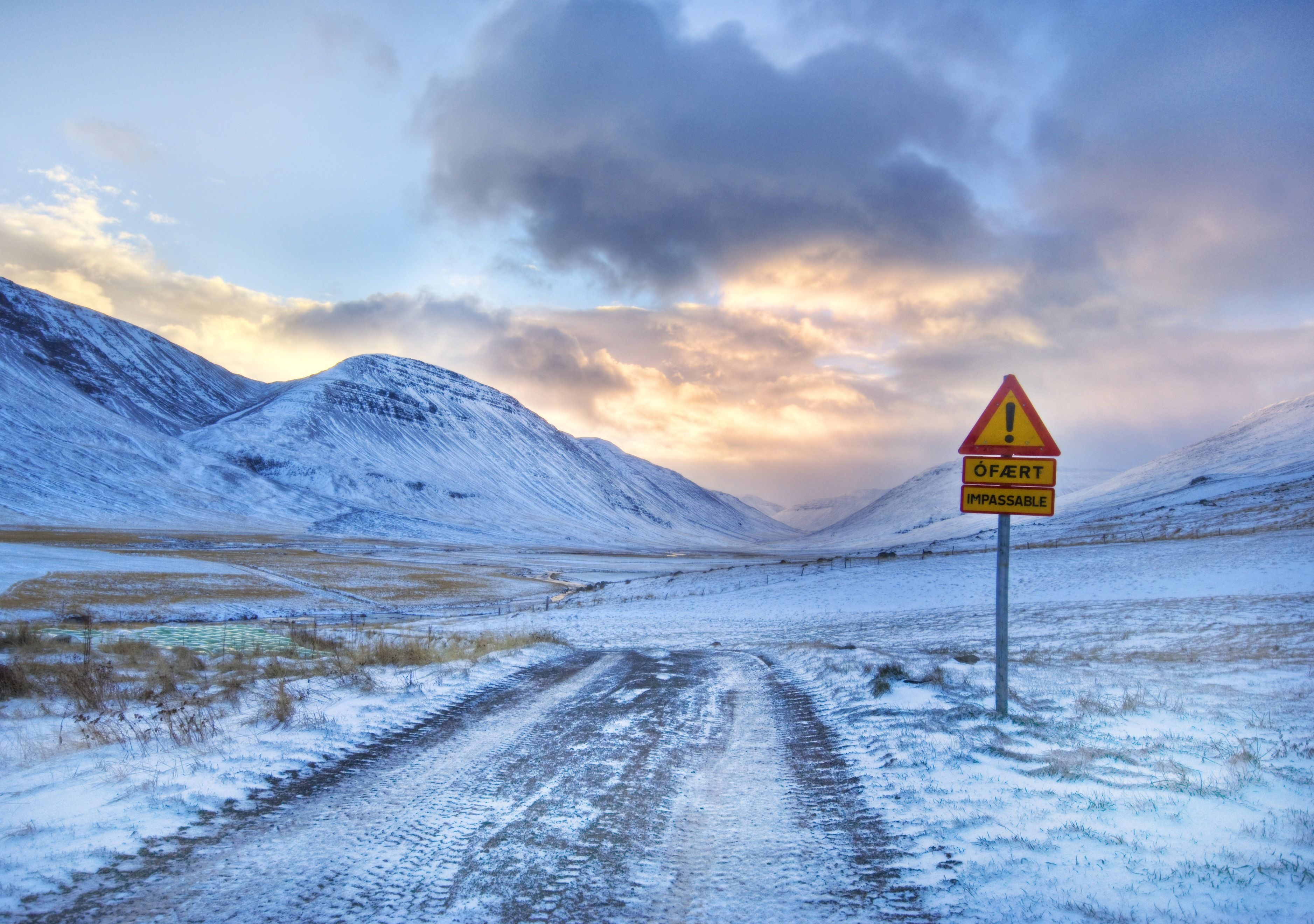 Road Leading To The Mountain And The Exclamation Mark Hd Desktop Wallpapers Pc Backgrounds Free Pictures
