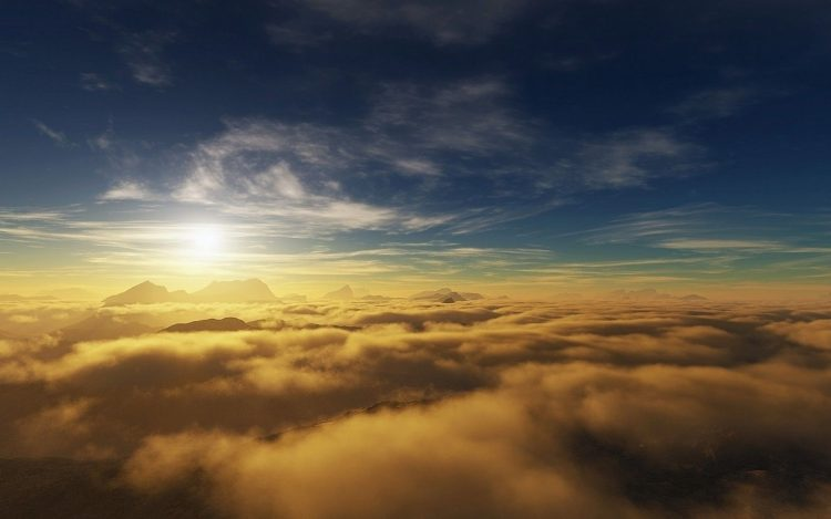 sky, atmosphere, clouds, view, sun, Rays, hd  desktop wallpapers , Pc backgrounds, free pictures
