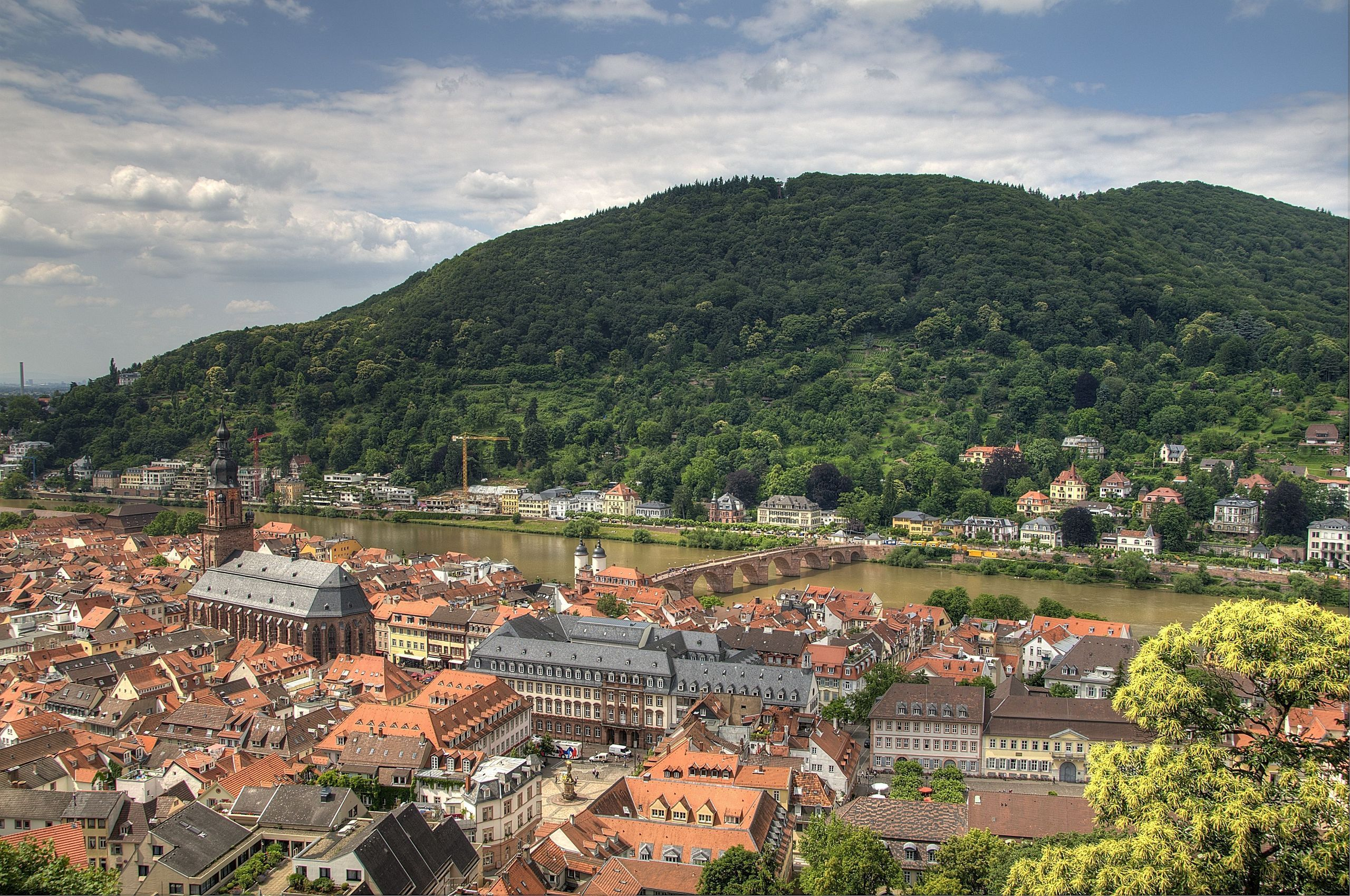 Heidelberg, Germany, heidelberg, germany, river, bridge, building, wallpapers , Pc backgrounds, free photos - HD wallpaper desktop backgrounds