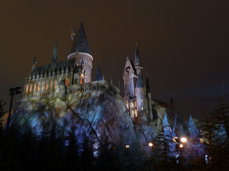 Hogwarts, light, rocks, Tower, wallpapers , Pc backgrounds, free photos