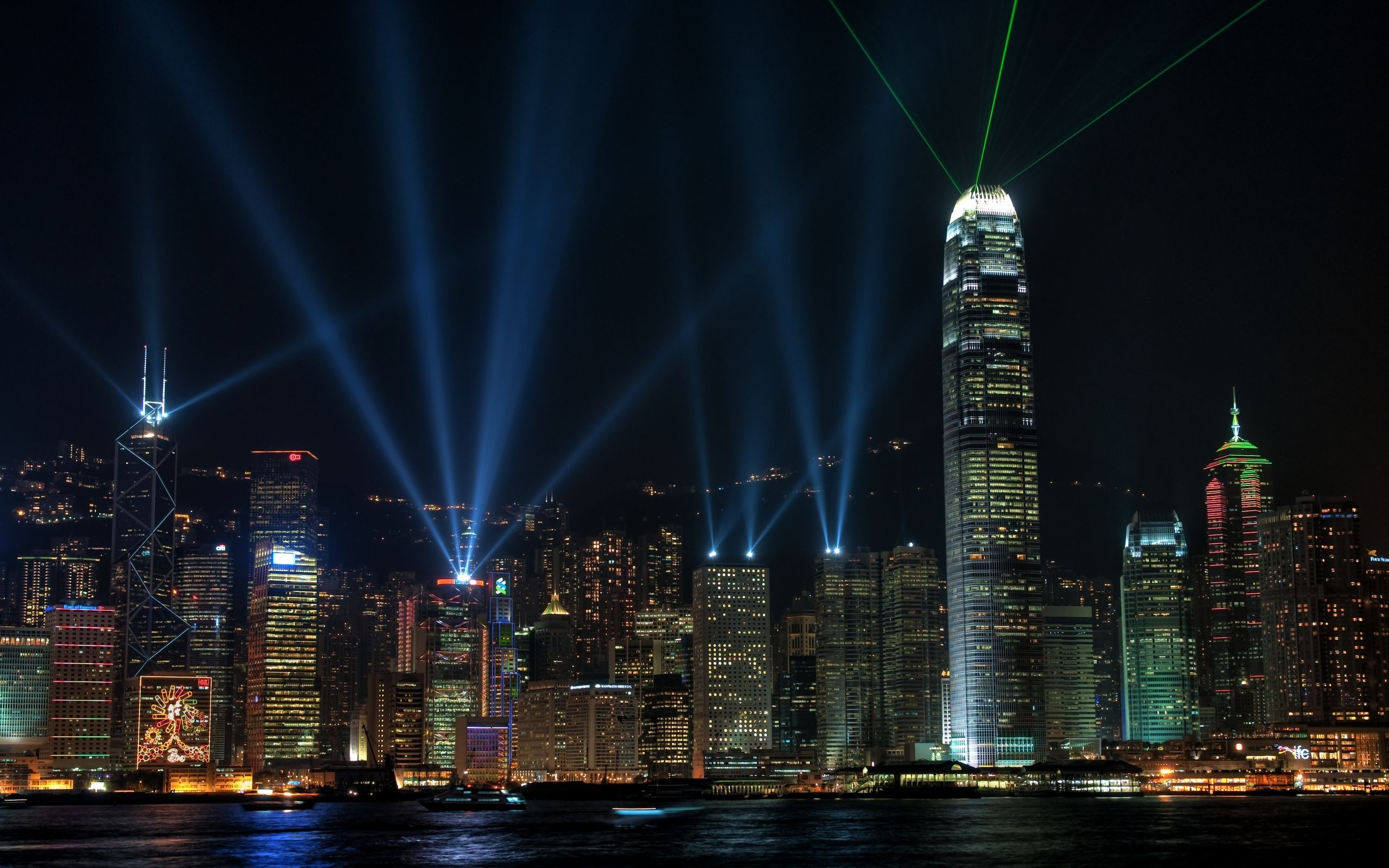 Hong Kong, night, Lights, Beauty, wallpapers , Pc backgrounds, free photos - HD wallpaper desktop backgrounds