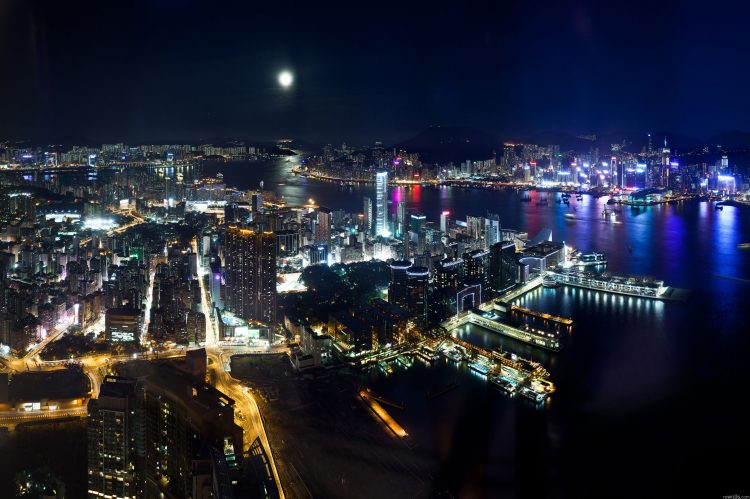 Hong Kong, night, lights, wallpapers , Pc backgrounds, free photos