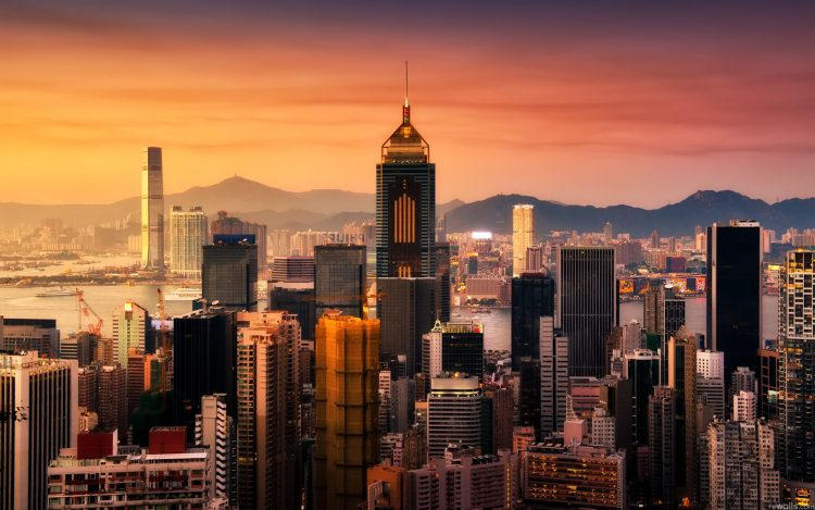 Hong Kong, sunset, building, wallpapers , Pc backgrounds, free photos