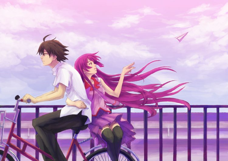anime, bicycle, girl, wallpapers , Pc backgrounds, free photos