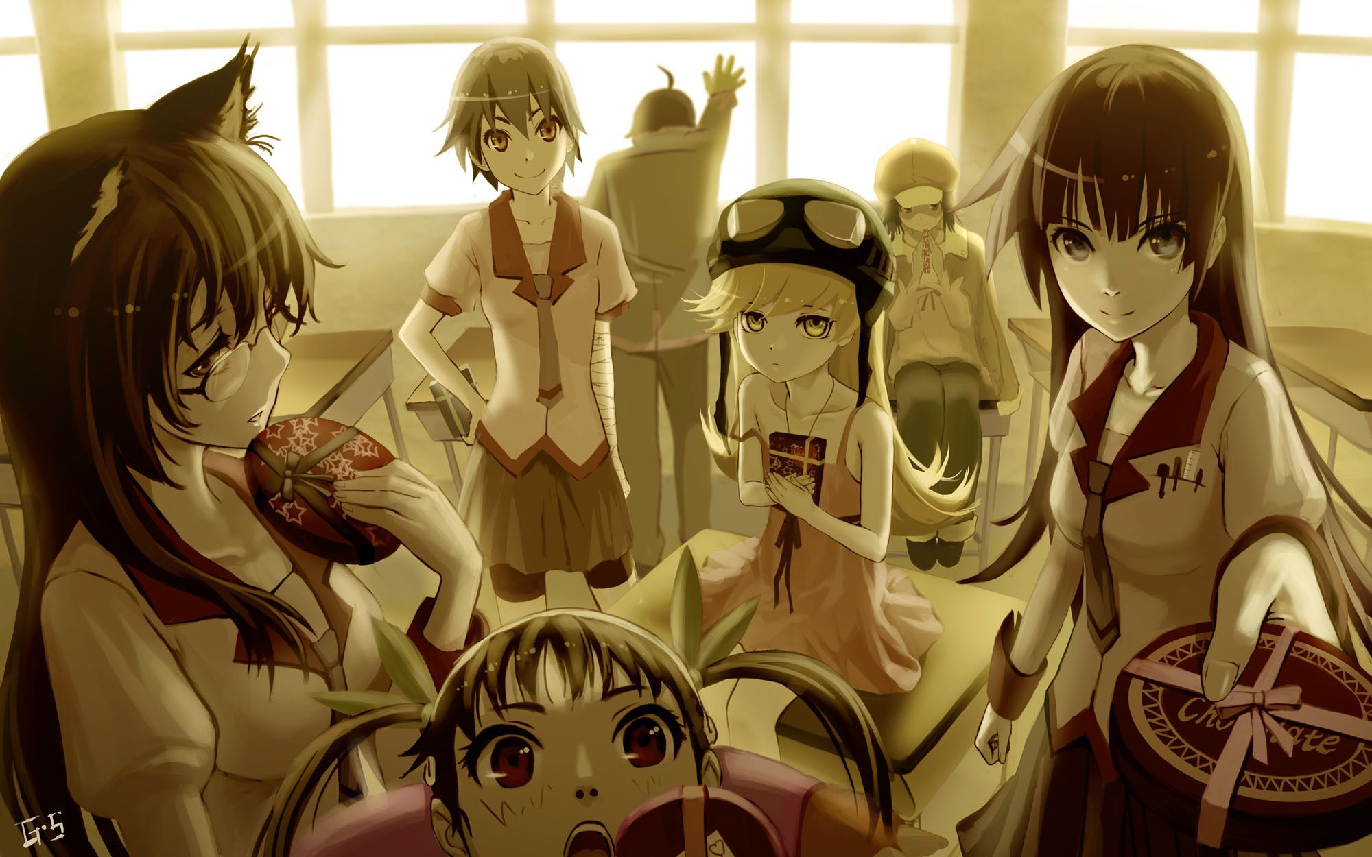 anime, company, candy, Friends, wallpapers , Pc backgrounds, free photos - HD wallpaper desktop backgrounds