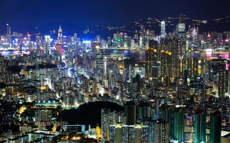 hong kong, Hong Kong, China, Asia, city, evening, night, light, home, Skyscrapers, building, high-rise, wallpapers , Pc backgrounds, free photos