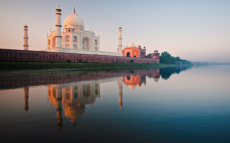 India, Taj Mahal, river, Yamuna, dawn, wallpapers , Pc backgrounds, free photos