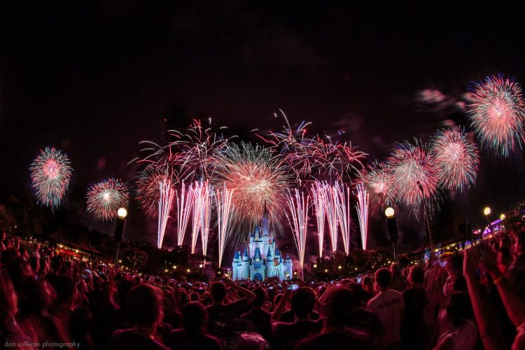 The Magic Kingdom, Disney, night, salute, fireworks 01, wallpapers , Pc backgrounds, free photos
