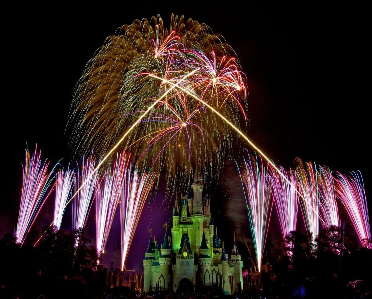 The Magic Kingdom, Disney, night, salute, fireworks 02, wallpapers , Pc backgrounds, free photos