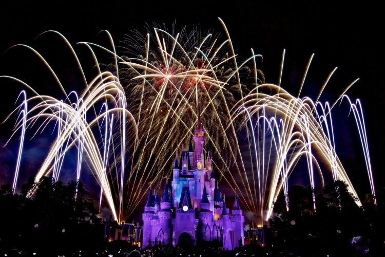 The Magic Kingdom, Disney, night, salute, fireworks 03, wallpapers , Pc backgrounds, free photos
