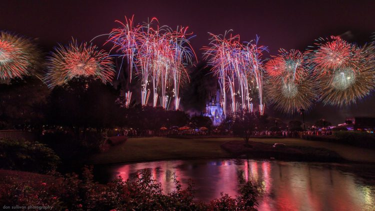 The Magic Kingdom, Disney, night, salute, fireworks 04, wallpapers , Pc backgrounds, free photos