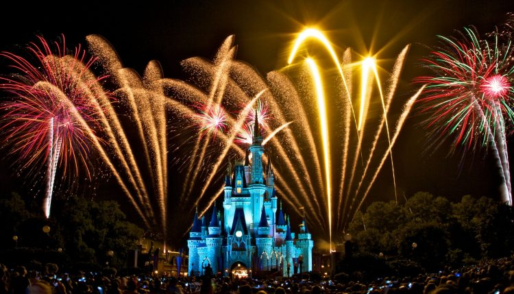 The Magic Kingdom, Disney, night, salute, fireworks 05, wallpapers , Pc backgrounds, free photos