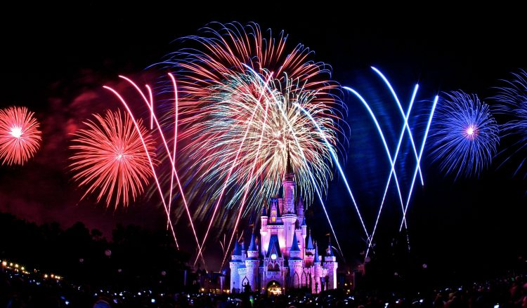 The Magic Kingdom, Disney, night, salute, fireworks, wallpapers , Pc backgrounds, free photos