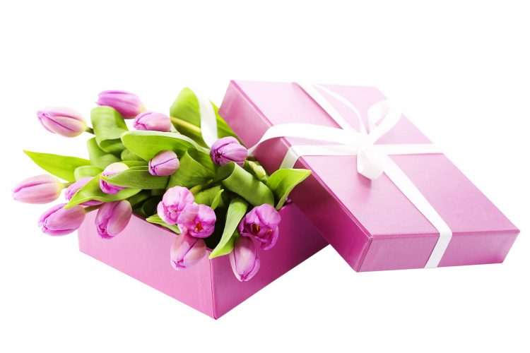 tape, bouquet, box, Tulips, wallpapers , Pc backgrounds, free photos