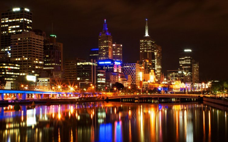 Lights, Night, Melbourne, wallpapers , Pc backgrounds, free photos