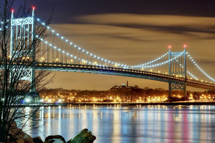 lights, new york city, nyc, night city, bridge, New York, wallpapers , Pc backgrounds, free photos