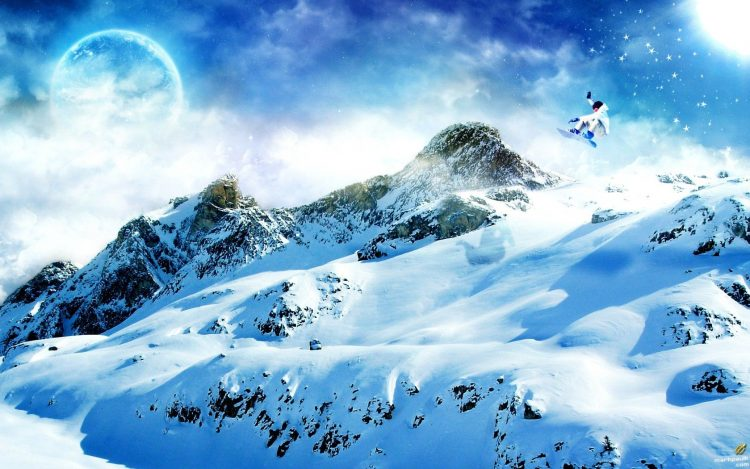 snowboard, snow, Mountains, wallpapers , Pc backgrounds, free photos