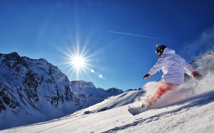 snowboard, snow, Mountains, sun, kantovka, adrenaline, wallpapers , Pc backgrounds, free photos